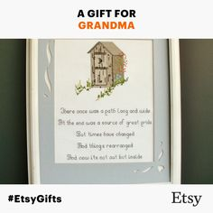 Adorable Vintage Outhouse Cross Stitch with Poem. Lavish Maiden Vintage $37.00