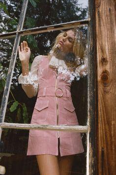 Fonda Suede Dress - Rose