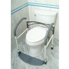 FoldEasy Commode Frame by Buckingham is stable, folds easily, and requires no installation. Toilet Surround, Bath Chair For Elderly, Traditional Toilets, Clogged Toilet, Bidet, Portable Toilet, Frame Stand, Elderly Care, Home Safety