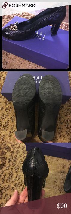 Stuart Weitzman Quantas Black Bow Heels Stuart Weitzman Black Nappa Quantas heels in size 9M. Lightly worn by me only. Comes with the box. Stuart Weitzman Shoes Heels