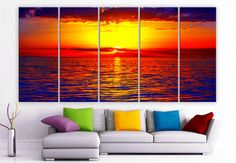 XLARGE 30x 70 5 Panels Art Canvas Print beautiful by BoxColors