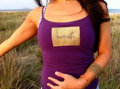 Hey, I found this really awesome Etsy listing at http://www.etsy.com/listing/162677559/namaste-eco-yoga-tank-up-cycled-eco