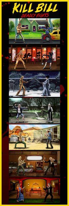 """Kill Bill Deadly Fights"" by Daniel Nash - Hero Complex Gallery"