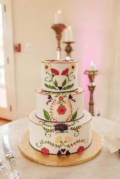 Exciting And Colourful Mexican Wedding Cake Ideas ❤ See more: http://www.weddingforward.com/mexican-wedding-cake-ideas/ #weddings