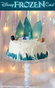 Disney FROZEN Cake! (Ice Cream Cake) How adorable! I bet Eleanor would love this!