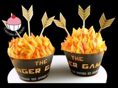 How To Make Catching Fire Cupcakes Tutorial on Cake Central Fire Cupcakes, Fire Cake, Hunger Games Cake, Hunger Games Party, Cupcake Tutorial, Cake Central, Cake Decorating Tutorials, Cookie Designs, Catching Fire