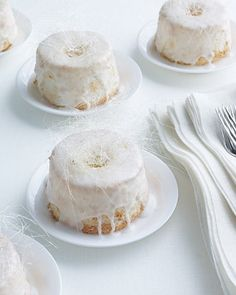 Mini Angel Food Wedding Cakes