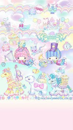 Hello Kitty Iphone Wallpaper, Hello Kitty Backgrounds, Sanrio Wallpaper, Star Wallpaper, Kawaii Wallpaper, Little Twin Stars, Little Star, Pochacco, Sanrio Characters