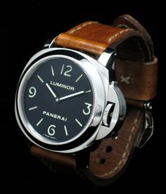 Panerai 112 on Handmade Leather Watch Strap