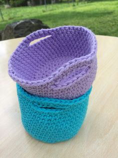 Mini Basket By Brittany Coughlin - Free Crochet Pattern - (ravelry)* ༺✿ƬⱤღ  https://www.pinterest.com/teretegui/✿༻