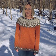 Ravelry: Vintersol pattern by Jennifer Steingass Fair Isle Knitting Patterns, Sweater Knitting Patterns, Knit Patterns, Hand Knitting, Punto Fair Isle, Motif Fair Isle, Crochet Beanie Hat, Knit Or Crochet, Hand Knitted Sweaters