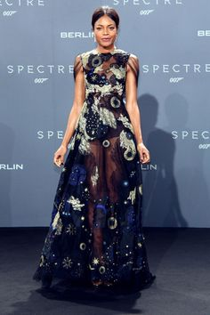 Namore Harris at the Berlim Spectre premiére wearing Valentino!