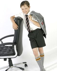 Grey School Shorts, Boy Shorts, Matching Couple Outfits, Matching Couples, School Boy, School Uniform, High School, Boys Short Suit, Skinhead Fashion
