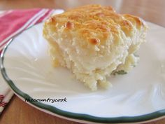 Butter Dip Biscuits - No kneading, no rolling or cutting.  Just mix it up, press into pan with melted butter, and bake!