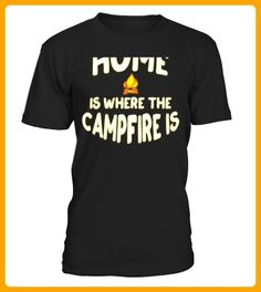 Home is Where the Campfire Is Love Camping on back of Tee Limited Edition - Yoga shirts (*Partner-Link)