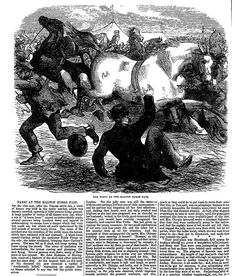 PANIC AT THE MALTON HORSE FAIR . The Penny Illustrated Paper (London, England), Saturday, April 26, 1862 April 26, Black And White Pictures, London England, Horses, Paper, Illustration, Art, Art Background, Horse