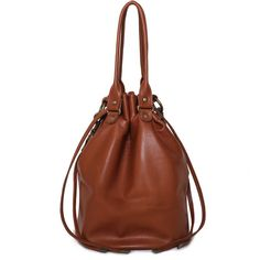 brown shoulder bag,shoulder bag,brown leather bag,leather shoulder... found on Polyvore
