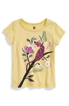 Tea Collection 'Jungle Leopard' Graphic Cotton Tee (Toddler Girls, Little Girls & Big Girls) Inspiration For Kids, Character Inspiration, Nordstrom, Girls Characters, Kids Prints, Summer Kids, Apparel Design, Surface Design, Cotton Tee