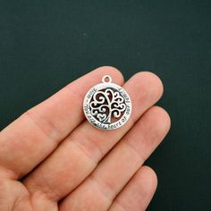 2 Mom Charms Antique Silver Tone Family Tree  You are the