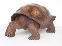 Life sized turtle statue.