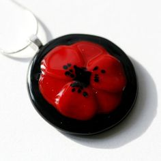 Poppy Pendant - One off commision