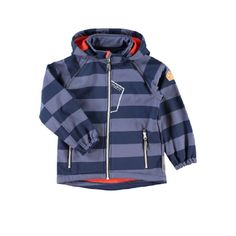 NAME IT Boys Mini Softshelljacke ALFA dress blues #Kinderwinterjacke #Kinderskijacke #gestreift #blau #nameit #warm #kuschelig #Kinder #Junge