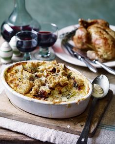 You've had potato gratin, well now there's creamy parsnip gratin, flavoured with nutmeg and fresh thyme then topped with sourdough croutons – it's the ultimate side dish for roast meat.