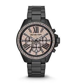Michael Kors Women's Wren Black Chronograph