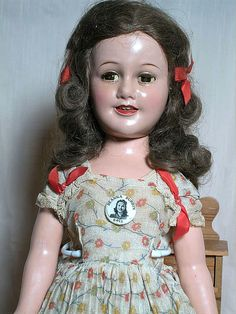 Ideal Deanna Durbin Composition Doll All Original Tag Dress + the pin 21""