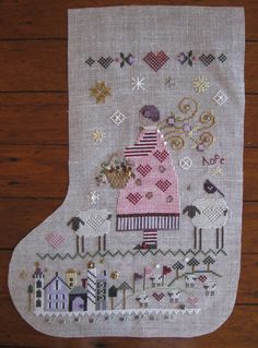 Shepherd's Bush Crossstitch Stocking - partially completed