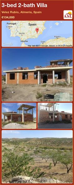 3-bed 2-bath Villa in Velez Rubio, Almeria, Spain ►€134,000 #PropertyForSaleInSpain
