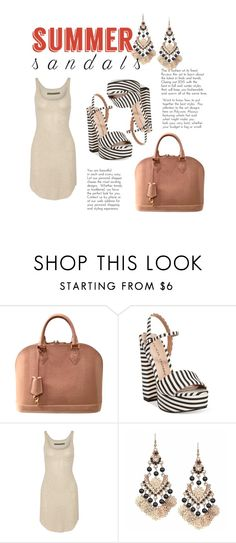 """Untitled #20"" by bacciami ❤ liked on Polyvore featuring Louis Vuitton, Chinese Laundry, Enza Costa and summersandals"