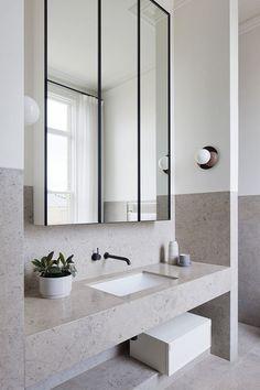 Bathroom Mirror Cabinets bathroom mirrors and cabinets endearing best 25 bathroom mirror cabinet ideas SJONMMX Bathroom Design Inspiration, Bad Inspiration, Bathroom Inspo, Bathroom Interior Design, Modern Bathroom, Small Bathroom, Master Bathroom, Bathroom Ideas, Minimal Bathroom