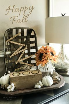 Fall is, by far, my most favorite time of year. Here is how I used one of our Tobacco Baskets in my decor.