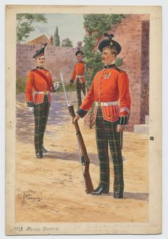 British; Royal Scots, Sergeant, Corporal & Private. c.1910 by Edgar G. Holloway