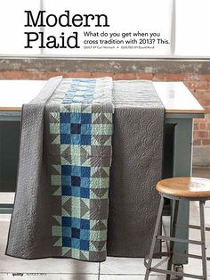 - Modern Plaid Quilt Kit - love the color combo