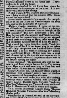 Tom Hyer trial for assault at Matthew Conlin's saloon in Pearl and Chatham. Jan. 6, 1837
