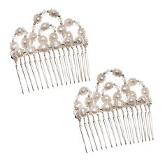 Oh man...bridesmaids are going to be busy making their own hair combs for the wedding. Brown and red crystals to match the shoes and dress.