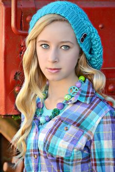 Slouch Hats and Wavy hair.. Teen Style   Little Diva Bubblegum Necklaces