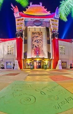 Walt Disney World Hollywood Studios Chinese Theater, Jim Henson Kermit The Frog Walk of Fame.