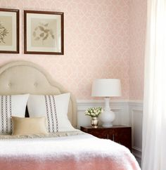 Thibaut Thibaut Wallpaper: Geometric Collection - Greyden    Nice picture of how the pattern is cornered