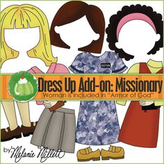 Primary : Sister Missionary File Folder Game (add-on) - for my grand daughters