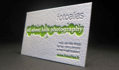 All about Kids Photography - love the letterpress!