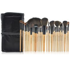 32PCS Professional Makeup Brushes Natural Color Cosmetic Brush Kit Tool With Bag