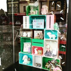Easter window display at Lark Store in Ballarat, Australia - gifts, homewards, party goods and children's products. www.larkstore.com.au