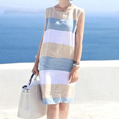 YOCLLEA Women's Striped Summer Dress – GNK Fashion