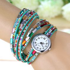 Beautiful sweetpea gemstone watch http://www.sassnfrass.net/sweetpea-gemstone-watch/