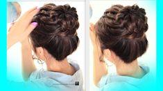 I love it   !!!!  ★STARBURST BRAIDED BUN HAIRSTYLE | CUTE SCHOOL BRAIDS HAIRSTYLES