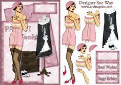 Art Deco Party Invite Fashion Decoupage