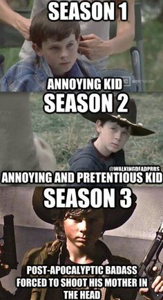 Season four onward: obnoxious little shit whom I frequently wish to slap because of his stupidity and disrespect.